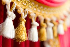 Detail of theatre curtain Royalty Free Stock Image