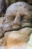 Detail of thestone head Royalty Free Stock Image