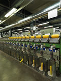 Detail of thread factory production line Royalty Free Stock Photos