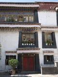 Detail of tibetan building Royalty Free Stock Image