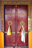 Detail of tibetan door. Likir monastery,india Royalty Free Stock Photos