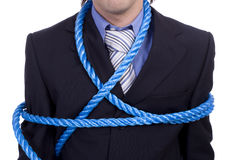 Detail of a tied business man Stock Photo