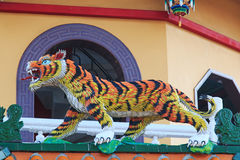 Detail of the Tiger at Dragon And Tiger Pagodas of Lotus Pond, Kaohsiung Royalty Free Stock Images