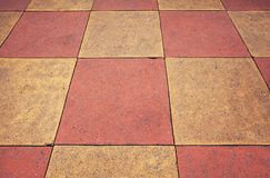 Detail of tile walkway Stock Photo
