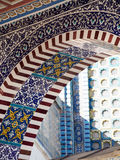Detail of Tiled Dome of the Rock Mosque in Jerusalem Stock Photography