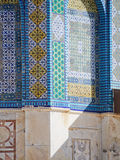 Detail of Tiled Dome of the Rock Mosque in Jerusalem Royalty Free Stock Image
