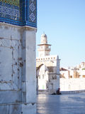 Detail of Tiled Dome of the Rock Mosque in Jerusalem Royalty Free Stock Photography