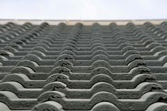 Detail of a tiled Roof Royalty Free Stock Photo