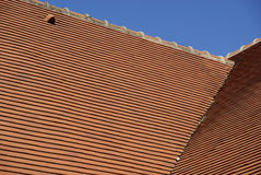 Detail of a tiled roof Stock Photo