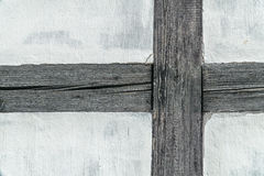 Detail of the timber frame (prussian) wall Stock Photos