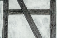 Detail of the timber frame (prussian) wall Stock Photo