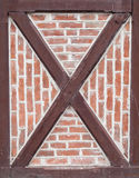 Detail of timber frame wall Royalty Free Stock Photo