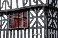 Detail of a timbered building, Stratford-Upon-Avon, UK. Royalty Free Stock Photos