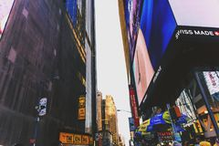 Detail of Times Square in Manhattan Royalty Free Stock Images