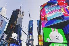 Detail of Times Square in Manhattan Royalty Free Stock Photo
