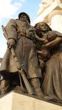Detail of Tisza Istvan Monument. Monument to former prime minister Istvan Tisza on Kossuth Square next to Parliament building in Budapest Stock Image