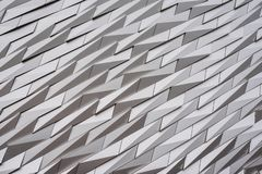 Detail of titanic Museum of Belfast stock photos