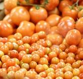 detail of tomato at market Stock Photo