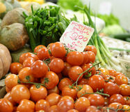 detail of tomato at market Royalty Free Stock Photography