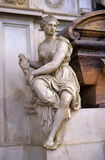 Detail of tomb of Michelangelo in Santa Croce basilica, Florence Royalty Free Stock Image