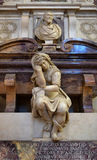 Detail of tomb of Michelangelo in Santa Croce basilica, Florence Stock Photography
