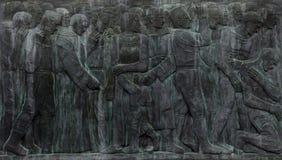 Detail of tomb reliefs at Mirogoj cemetery in Zagreb, Croatia stock image