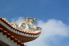 Detail. Ton Duc Thang temple. Ong Ho (Tiger) Island. Long Xuyen. Vietnam Royalty Free Stock Photos