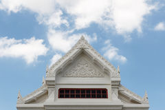 Detail of top of the building. Royalty Free Stock Photos