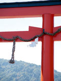 Detail of a Torii Gate in Kyoto Japan Royalty Free Stock Image