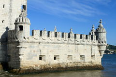 Detail of Torre de Belem Royalty Free Stock Photo