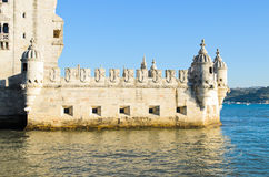 Detail of Torre de Belem stock photography