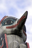 Detail of a totem pole Stock Photo