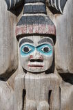 Detail of totem pole Royalty Free Stock Images