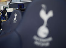 Detail of  Tottenham Hotspur substitutions bench Stock Images