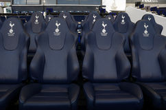 Detail of  Tottenham Hotspur substitutions bench Royalty Free Stock Photos