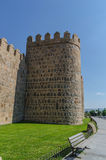 Detail tower Avila wall Royalty Free Stock Photos