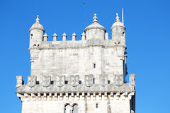 Detail from the tower of Belem in Lisbon Portugal Stock Images