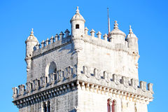 Detail from the tower of Belem in Lisbon Portugal Royalty Free Stock Photo
