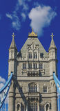 Detail of the Tower Bridge in London while driving on it Royalty Free Stock Image