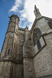 Cathedral of Saint-Nazaire, Carcassonne. Detail of the tower of the cathedral Saint-Nazaire. Carcassonne Royalty Free Stock Photo