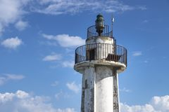 Detail of tower of old lighthouse in Tyre, Sour, Lebanon Stock Images