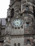 Detail of the tower Roman Catholic church Sv.Al�bety Kosice Slovakia. Stock Images