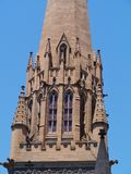 A detail of the tower of the Saint Patrick. A detail of the St Patricks Cathedral is the cathedral church of the Roman Catholic Archdiocese of Melbourne in Royalty Free Stock Photos