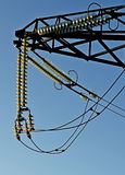 Detail of the tower transmission line Stock Photos