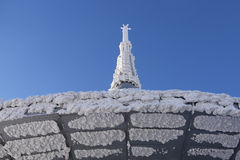 Detail of the tower. TV tower in Jizera Mountains Royalty Free Stock Images