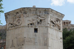 Detail of the Tower of the Winds, Athens,Greece. Royalty Free Stock Images