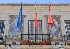 Detail of the Town hall in Cascais Royalty Free Stock Image
