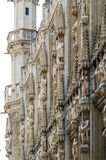 Detail of Town hall in Grand place, Brussels. Royalty Free Stock Photography