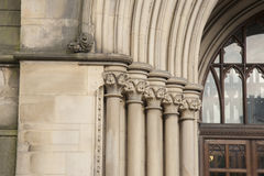 Detail on Town Hall, Manchester Stock Image