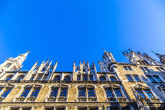 Detail of the town hall on Marienplatz, Munich Stock Image